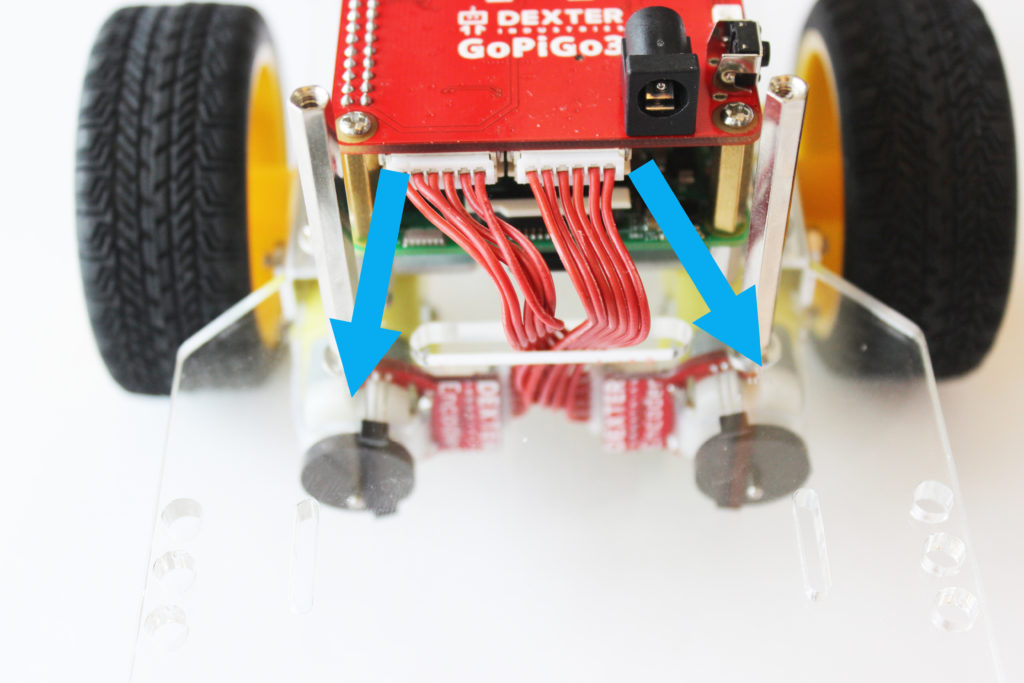 Add Motors to your Raspberry Pi connect with cables.