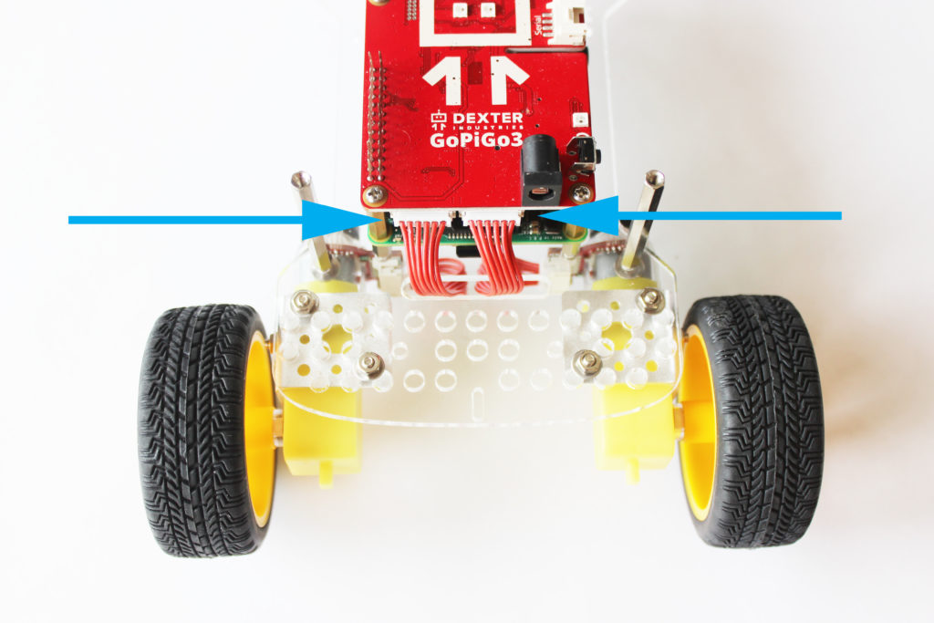 Attach wheels to the GoPiGo3 Raspberry Pi Robot Balancebot