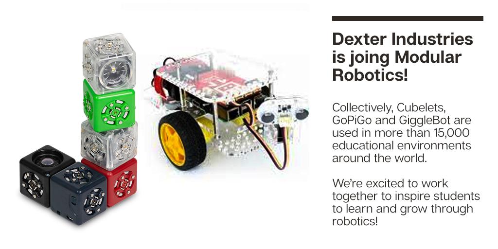 Modular Robotics acquires Dexter Industries